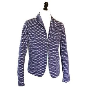 GAP// navy blue white polka dot blazer jacket sz 2